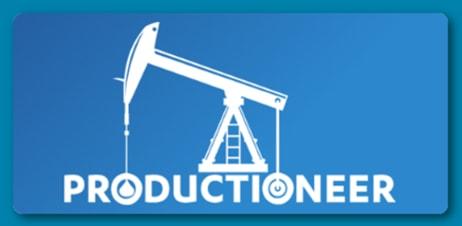 Productioneer blue logo